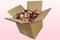 Caja de 8 litros con pétalos de rosa de color Mezcla de calidad B