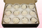 12 Geconserveerde Rozenkoppen, Wit, Maat M