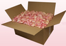 24 litre box with soft pink coloured freeze dried rose petals