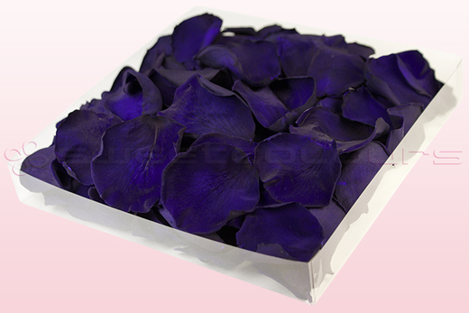 1 litre box with purple preserved rose petals