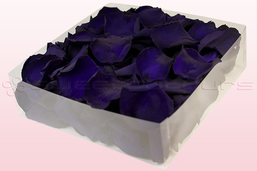 2 litre box with purple preserved rose petals