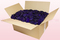 24 litre box with purple preserved rose petals