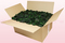 Caja de 24 litros con pétalos de rosa preservados de color verde oscuro