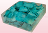 2 litre box with turquoise coloured preserved rose petals