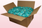 24 litre box with turquoise coloured preserved rose petals