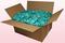 24 Liter Doos Met Geconserveerde Rozenblaadjes In De Kleur Turquoise