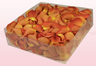 2 litre box with dark orange freeze dried rose petals