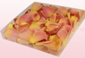 1 litre box with pink & peach coloured freeze dried rose petals