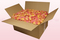 24 litre box with pink & peach coloured freeze dried rose petals