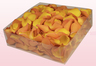 2 litre box with golden yellow freeze dried rose petals