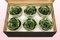 6 Geconserveerde Rozenkoppen, Metallic groen, Maat XL