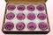12 konservierte Rosenköpfe, Lavendel, Größe M