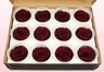 12 Preserved Rose Heads, Wine, Size M
