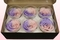 6 Preserved Rose Heads, Light pink & lavender, Size XL