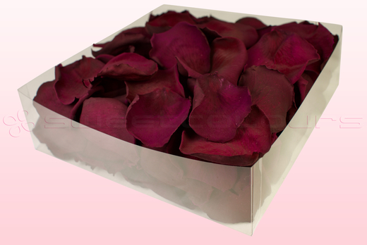 2 litre box with Wine coloured freeze dried rose petals