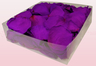 2 litre box with Violet pink coloured freeze dried rose petals