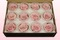 12 Preserved Rose Heads, Light Pink-White, Size M