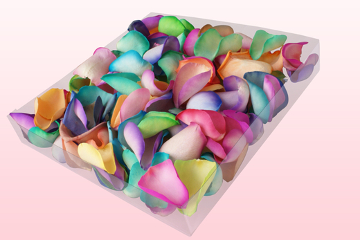 1 litre Box Rainbow Freeze Dried Rose Petals
