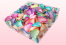 2 litre Box Rainbow Coloured Freeze Dried Rose Petals