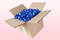 8 Litre Box Sky Blue Freeze Dried Rose Petals