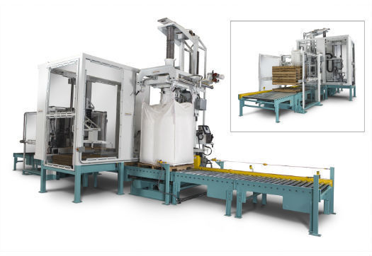 Large_bulk_material_handling_and_packaging_system_built_on_an_integrated_construction