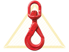 DELTALOCK SELF-LOCKING SWIVEL HOOKS WITH GRIP GRADE 80