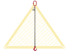 GRADE 80 1 - LEG CHAIN SLINGS WITH CLEVIS HOOK