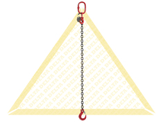 GRADE 80 1 - LEG CHAIN SLINGS WITH CLEVIS HOOK AND EYE GRAB HOOK