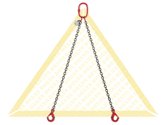 GRADE 80 2 - LEG CHAIN SLINGS WITH SELF-LOCKING CLEVIS HOOK