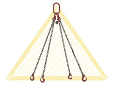 GRADE 80 4 - LEG CHAIN SLINGS WITH CLEVIS HOOK