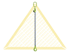 GRADE 100 1 - LEG CHAIN SLINGS WITH SELF-LOCKING CLEVIS HOOK AND EYE GRAB HOOK