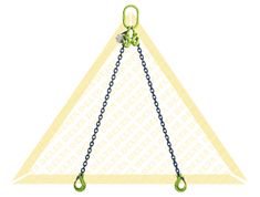 GRADE 100 2 - LEG CHAIN SLINGS WITH CLEVIS HOOK AND EYE GRAB HOOK
