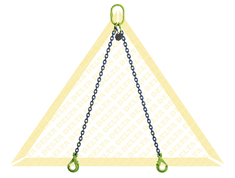 GRADE 100 2 - LEG CHAIN SLINGS WITH SELF-LOCKING CLEVIS HOOK