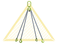 GRADE 100 4 - LEG CHAIN SLINGS WITH CLEVIS HOOK