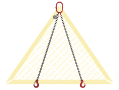 DELTALOCK 2 LEG CHAIN SLINGS WITH CLEVIS HOOK GRADE 80