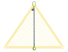 DELTALOCK 1 LEG CHAIN SLINGS WITH SELF-LOCKING CLEVIS HOOK GRADE 100
