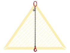 DELTALOCK 1 LEG CHAIN SLINGS WITH SELF-LOCKING CLEVIS HOOK GRADE 80