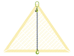 DELTALOCK 1 LEG CHAIN SLINGS WITH CLEVIS HOOK AND EYE GRAB HOOK GRADE 100