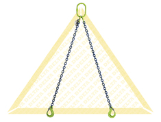 DELTALOCK 2 LEG CHAIN SLINGS WITH CLEVIS HOOK GRADE 100