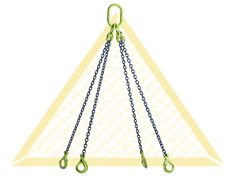 DELTALOCK 4 LEG CHAIN SLINGS WITH SELF-LOCKING CLEVIS HOOK GRADE 100