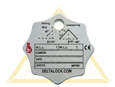 DELTALOCK CHAIN SLING TAGS 3/4-SPRONG