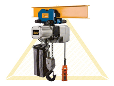 DELTA ELECTRIC CHAIN HOISTS WITH PUSH TROLLEY DTY TYPE